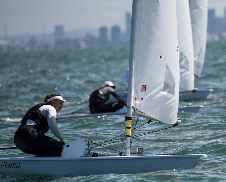 Annalise Murphy is the last race of the Radial Worlds in Melbourne