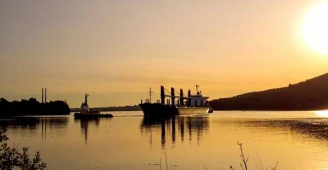 Bulker under tow at the Port of Waterford... where big plans are afoot to focus climate change in corporate plan