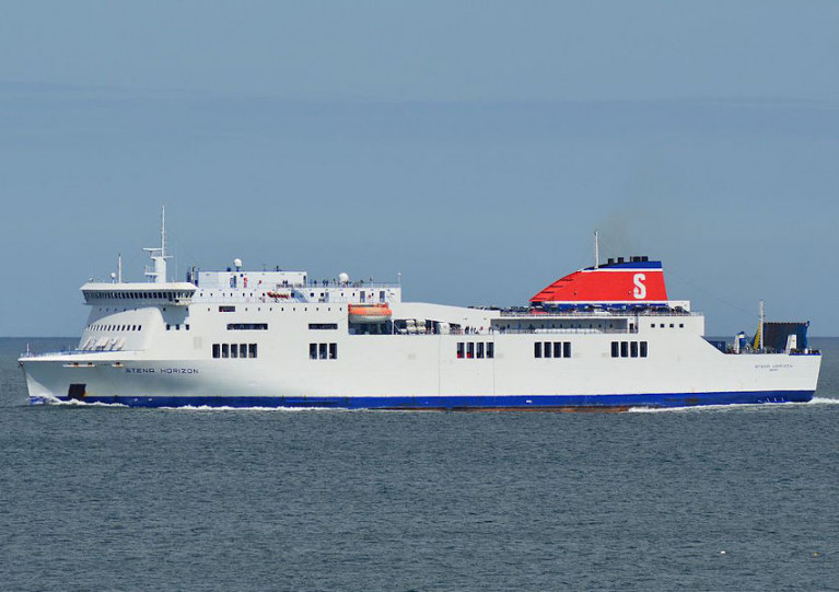 File image of the Stena Horizon in older livery, on approach to Rosslare Harbour
