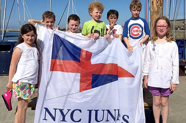 NYC nippers – adventurous 6-8 year olds went afloat at Dun Laoghaire