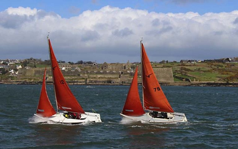 Squib sailing in Kinsale Harbour