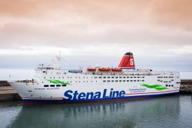 Stena Europe recently returned to Rosslare-Fishguard duties is the operators first ferry on the Irish Sea to receive the new corporate strapline during a refit at H&W, Belfast