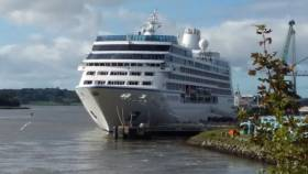 Berthed at Belview, Nautica, the final cruiseship to visit the south-eastern port of Waterford this season