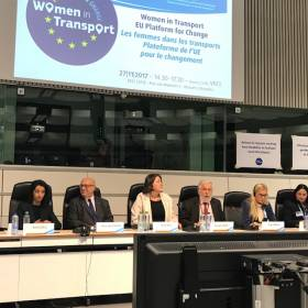 "EU officials at this week's meeting to launch ""Women in Transport"" a new platform aimed at strengthening employment and equal opportunities for both women and men in the transport sector."