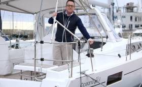 BJ Marine Group Sales Manager James Kirwan onboard an Oceanis 41.1 yacht at BJ Marine's Greystones Harbour Marina base. The Oceanis range goes on show as part of the Beneteau display at the London and Dusseldorf Boat Shows this month