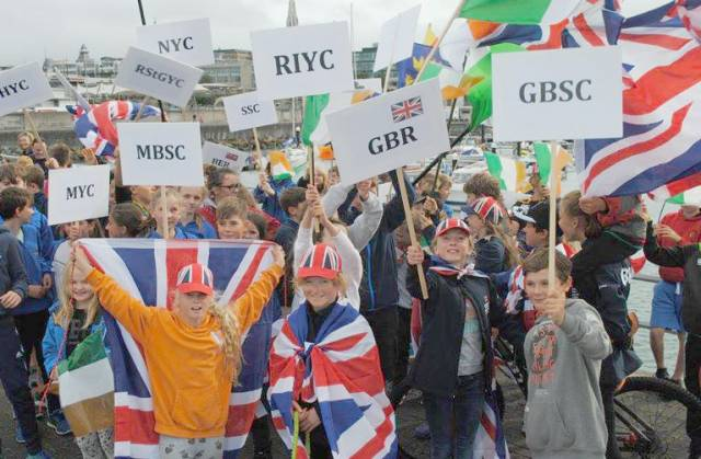 Optimist sailors from across Ireland– and the UK– have gathered at the RIYC for the National Championships on Dublin Bay