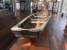 The Currach Naomhog Gobnait will be put on display in either Vigo or in Santiago de Compostella