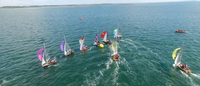 The GP14 fleet were welcomed back to Newtownards Sailing Club for their Ulster Championships at the weekend. Scroll down for drone footage.