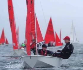 Eoghan Duffy and Cathal Langan competing for Ireland in Sydney at the Mirror World Championships