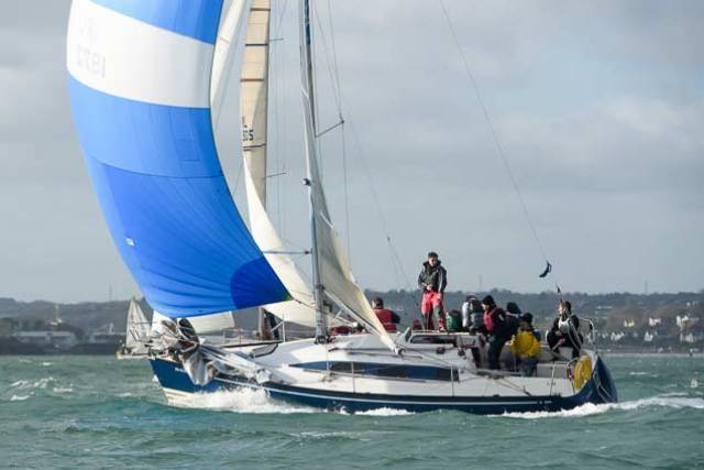 Keelboat action at Royal Cork Yacht Club
