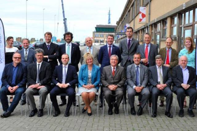 EU Commissioner Karmenu Vella with heads of European marine science institutes in Ostend, Belgium on Friday 8 July
