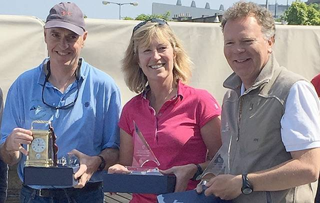Neil Hegarty, Hilary and David Williams were East Coast Dragon Championships winners at the Royal Irish Yacht Club