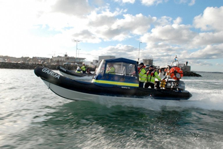 A Garda Water Unit fast boat like this was deployed on Lough Derg this past Thursday
