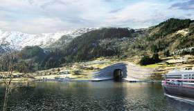 Artist's illustration of the planned Stad Ship Tunnel in Norway