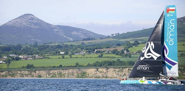 The Round Ireland Speed Record holder passes the Wicklow coastline