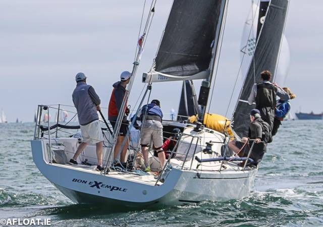 Colin Byrne's 'Bon Exemple' from the Royal Irish Yacht Club was the DBSC Cruiser 1 IRC Thursday night race winner