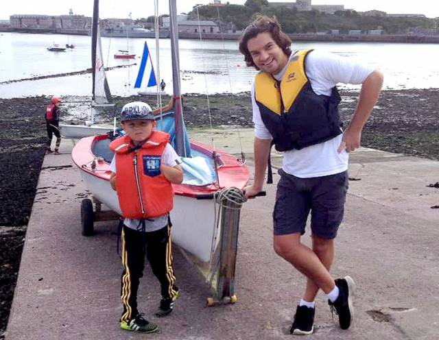 Dinghy sailors Ryan (9) and Ronan McCormick competed in the seven mile Cobh to Blackrock race