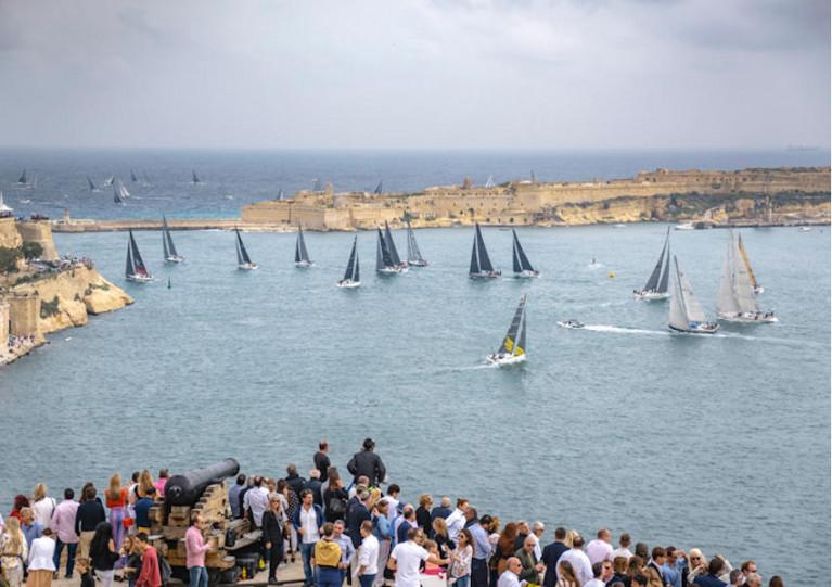 The start of 2018's Rolex Middle Sea Race in Valletta, Malta