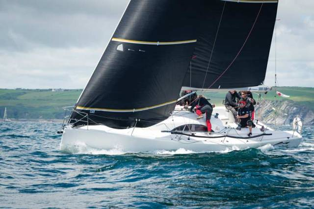 The Waterford A35 yacht Fools Gold, winner of the 2017 Sovereign's Cup and Welsh IRC Championships