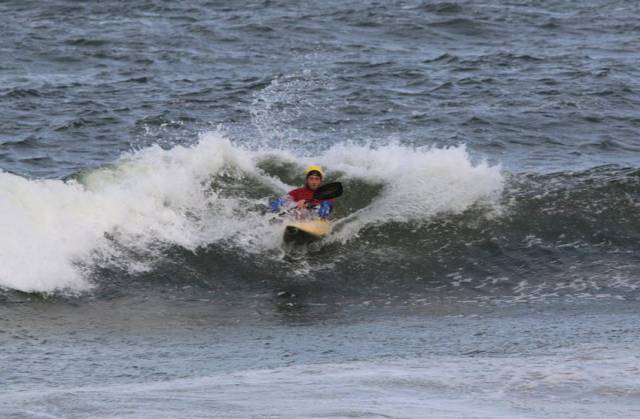 Action from the World Surf Kayaking Championships in Portrush this past week