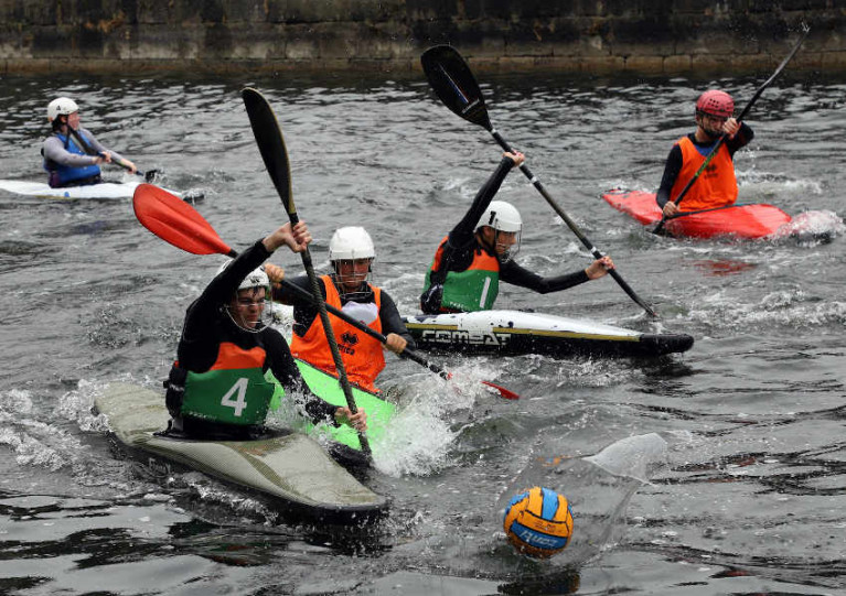 Canoe polo is a popular activity at Mullingar Harbour
