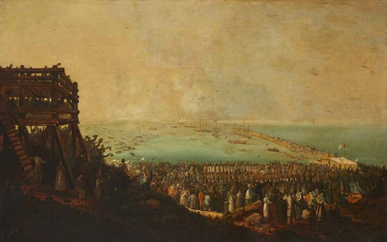 The embarkation of King George IV at Kingstown by artist William Sadler II