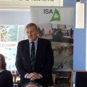 Jack Roy speaking at Saturday's AGM in Howth