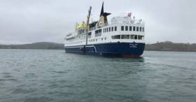 The first cruise ship to call to Cape Clear, off West Cork took place last Thursday when Ocean Nova anchored offshore