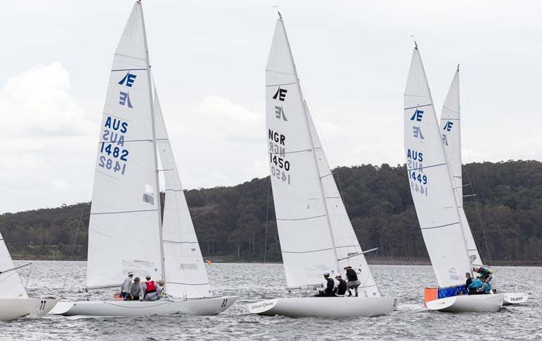 Etchells racing in Melbourne