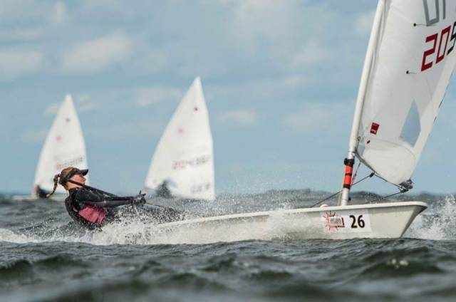 Howth's Aoife Hopkins in breeze in Hyeres