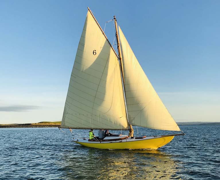 Dublin Bay 21 Naneen will be back racing on Dublin Bay this season