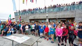 The Optimist Irish Championships opened at Lough Derg Yacht Club today