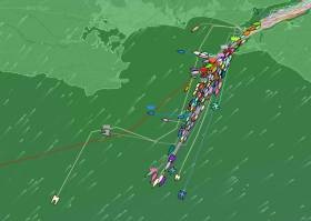 The massive Fastnet fleet is heading for Ireland. See Tracker below