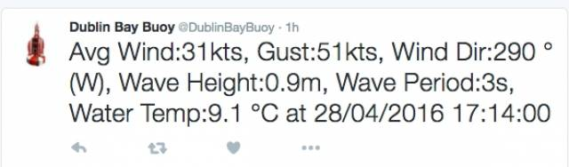 Strong winds on Dublin Bay have led to the cancellation of DBSC racing tonight