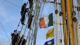 Argentinian Navy sail trainee schoolship, ARA Libertad is on a visit to Dublin to mark the historical ties between the countries