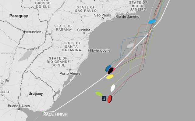 The latest Clipper Race fleet positions as of 4pm Irish time