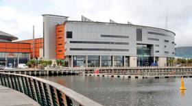 The SSE Arena next to Abercorn Basin in Belfast Harbour