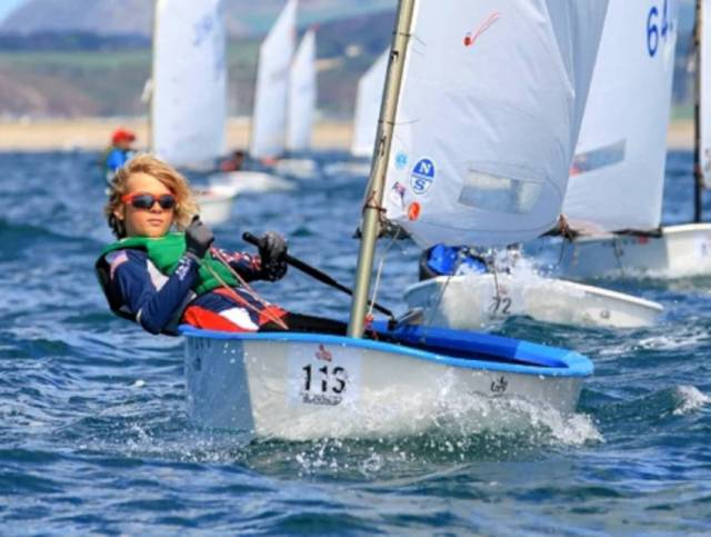 Howth/NYC sailor Rocco Wright was one of the stars of this year's Oppy Nationals in Kinsale