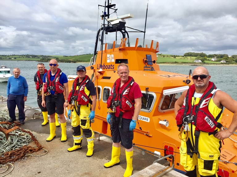 The Courtmacsherry Lifeboat crew after today's call out