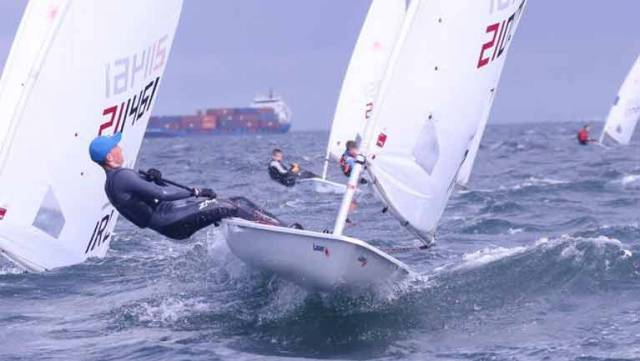 Laser sharp – Ewan McMahon from Howth Yacht Club competing in last year's Youth Pathway event at Ballyholme Yacht Club