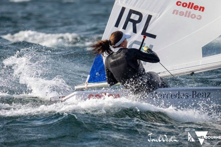 Annalise Murphy is back in action at Kiel Week, Germany  She is pictured here in Melbourne on her vway to 12th overall at the World Championships