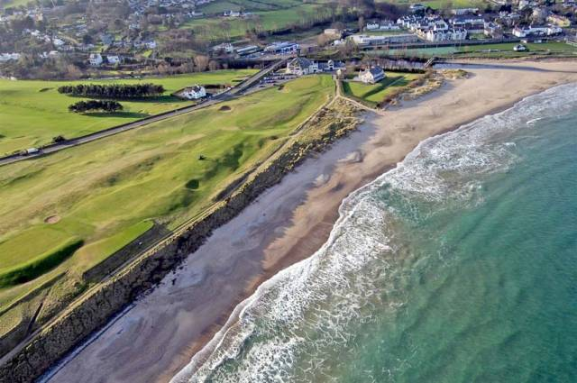 Part of Ballycastle Golf Club was closed to allow for a controlled explosion on the adjacent beach