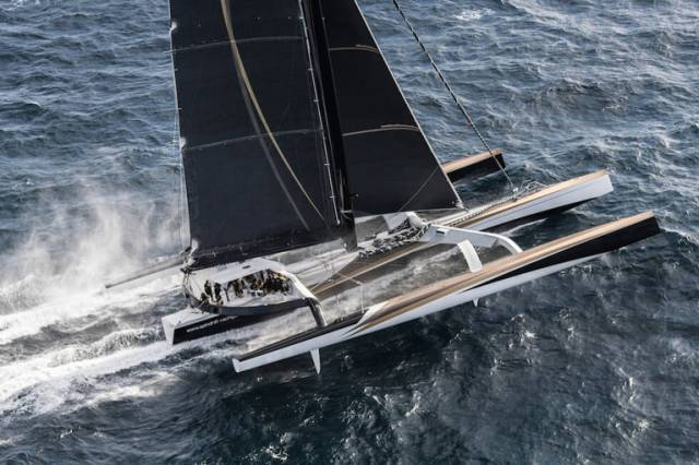 Spindrift 2 can reach speeds of nearly 50–knots