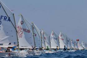 Sailing in the Optimist Worlds at Limassol earlier this year