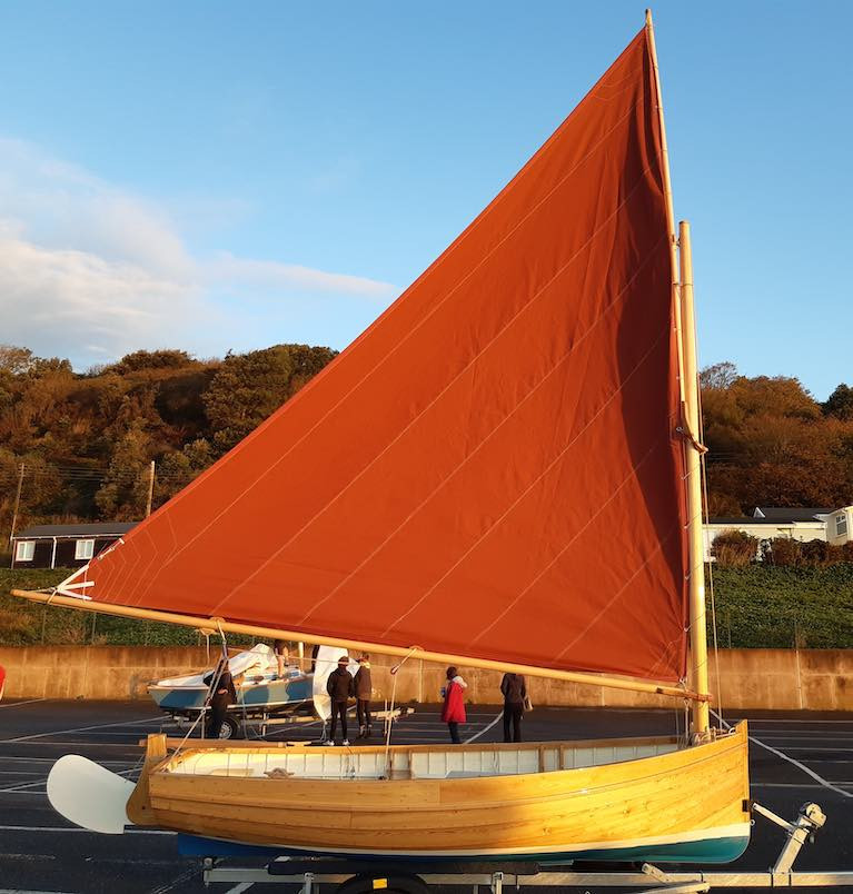 Classic boat-building from an 1896 design – the 12ft Bray Droleen built by Michael Weed of Donegal during a recent course at the Boat Building Academy in Dorset