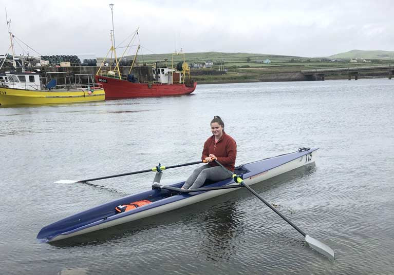 Coastal Rower Jane O'Connor back on the water at Portmagee Coastal Rowing Club