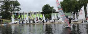 Double Ree regatta was made up with 8 29ers, 16 420s, 15 RS Fevas and 18 Mirrors