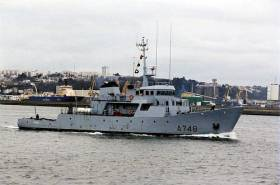 Leadship of namesake class, Léopard is one of five sister training ships visiting Dublin this weekend