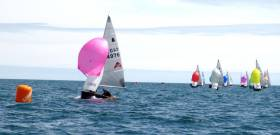 Get Owens & Mel Morris in the lead at the GP14 Purcell Trophy off Greystones in County Wicklow