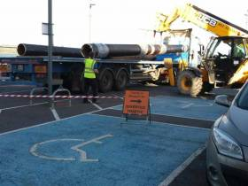 Construction of an embarkation pontoon is underway in Youghal, County Cork